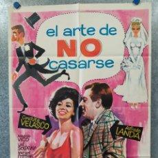 Cine: EL ARTE DE NO CASARSE. CONCHA VELASCO, ALFREDO LANDA, ANTONIO VICO. AÑO 1966 POSTER ORIGINAL. Lote 182200677