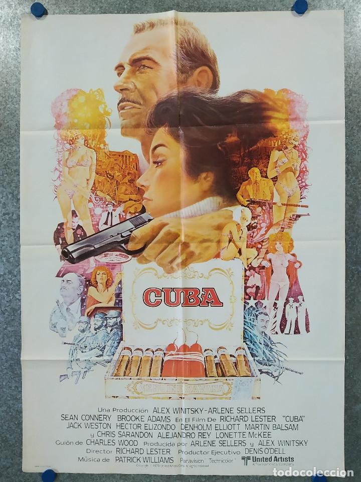 CUBA. SEAN CONNERY, BROOKE ADAMS, JACK WESTON AÑO 1979 POSTER ORIGINAL (Cine - Posters y Carteles - Bélicas)