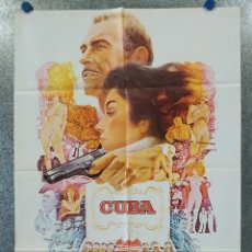 Cine: CUBA. SEAN CONNERY, BROOKE ADAMS, JACK WESTON AÑO 1979 POSTER ORIGINAL. Lote 182204657