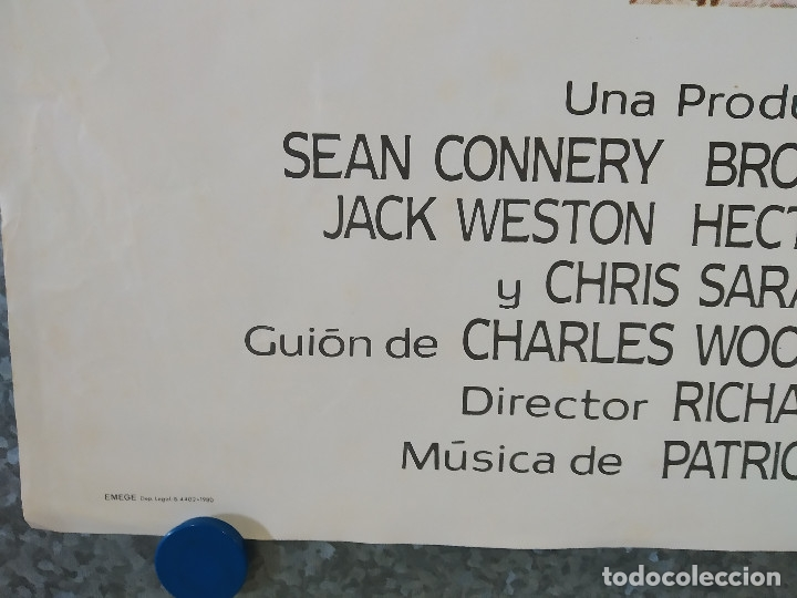 Cine: CUBA. Sean Connery, Brooke Adams, Jack Weston AÑO 1979 POSTER ORIGINAL - Foto 6 - 182204657