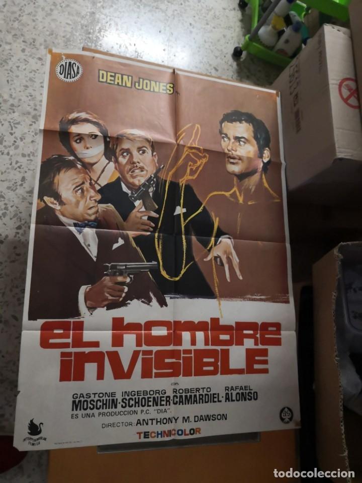 EL HOMBRE INVISIBLE - DEAN JONES. AÑO 1972 ARTICULO ORIGINAL 100% 100 X 70 CM. APROX. (Cine - Posters y Carteles - Ciencia Ficción)