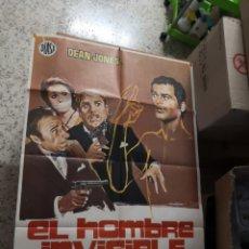 Cine: EL HOMBRE INVISIBLE - DEAN JONES. AÑO 1972 ARTICULO ORIGINAL 100% 100 X 70 CM. APROX.. Lote 182252475