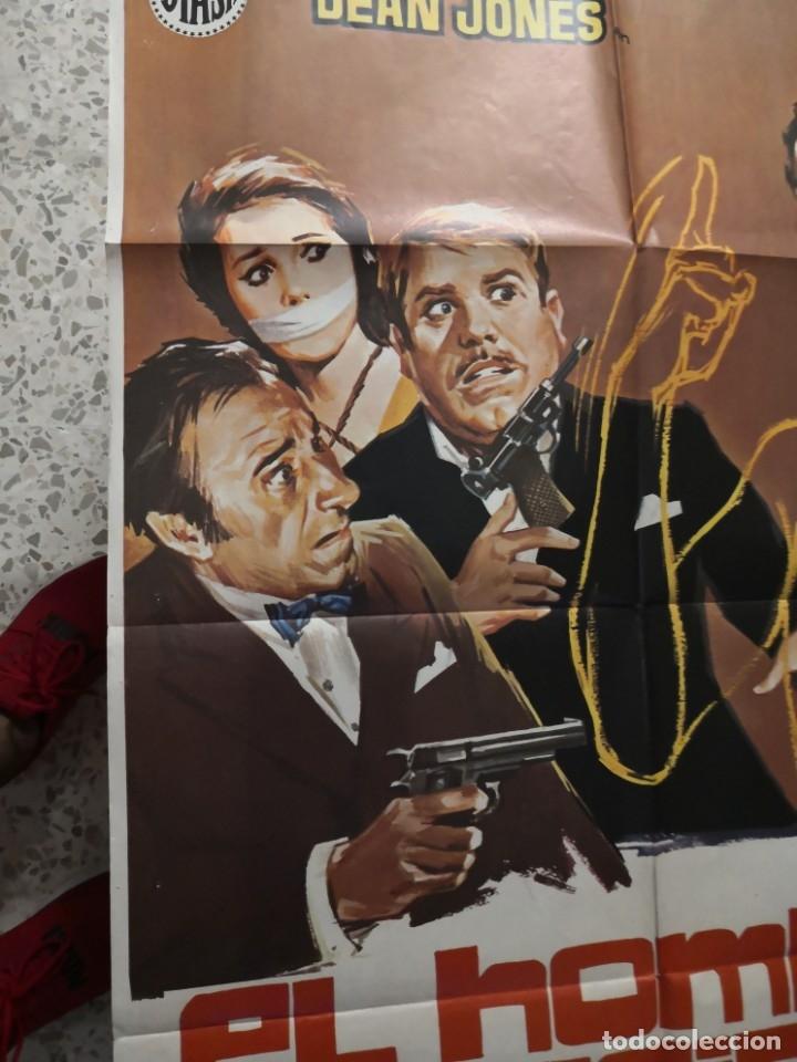 Cine: EL HOMBRE INVISIBLE - DEAN JONES. AÑO 1972 ARTICULO ORIGINAL 100% 100 x 70 cm. aprox. - Foto 4 - 182252475