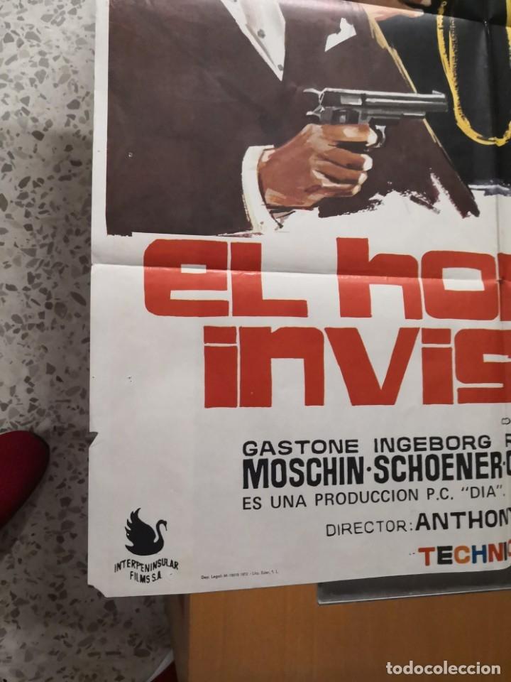 Cine: EL HOMBRE INVISIBLE - DEAN JONES. AÑO 1972 ARTICULO ORIGINAL 100% 100 x 70 cm. aprox. - Foto 6 - 182252475