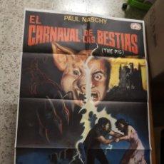 Cine: PÓSTER ORIGINAL DE 70X100CM DE EL CARNAVAL DE LAS BESTIAS, THE PIG, PAUL NASHY. Lote 182253261