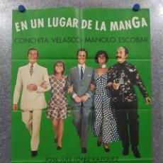 Cinema: EN UN LUGAR DE LA MANGA. MANOLO ESCOBAR, CONCHA VELASCO AÑO 1962. POSTER ORIGINAL. Lote 182312933