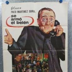Cine: SE ARMO EL BELEN. PACO MARTINEZ SORIA. AÑO 1969. POSTER ORIGINAL. Lote 182370493