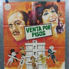 Cine: VENTA POR PISOS. CONCHITA VELASCO, JOSE L. LOPEZ VAZQUEZ. AÑO 1971. POSTER ORIGINAL. Lote 182370813