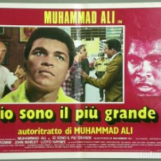 Cine: TU27D YO EL MEJOR MUHAMMAD ALI CASSIUS CLAY BOXEO SET 10 POSTER ORIGINAL ITALIANO 47X68. Lote 182385623