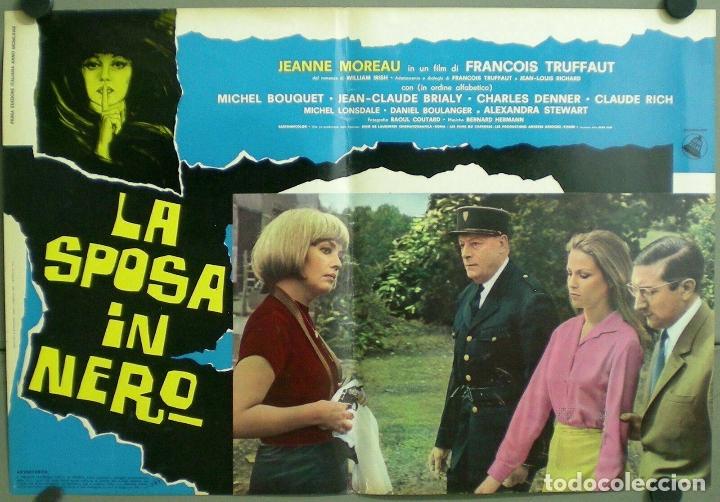 Cine: TV85D LA NOVIA VESTIA DE NEGRO TRUFFAUT JEANNE MOREAU SET 10 POSTER ORIGINAL ITALIANO 47X68 - Foto 2 - 182387901
