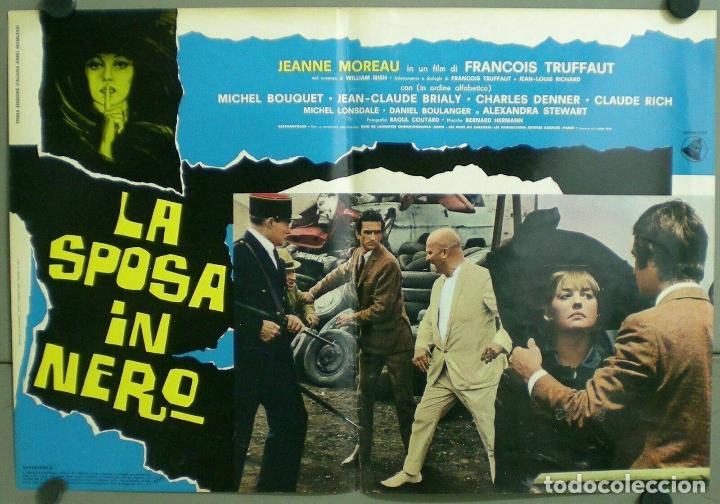 Cine: TV85D LA NOVIA VESTIA DE NEGRO TRUFFAUT JEANNE MOREAU SET 10 POSTER ORIGINAL ITALIANO 47X68 - Foto 3 - 182387901
