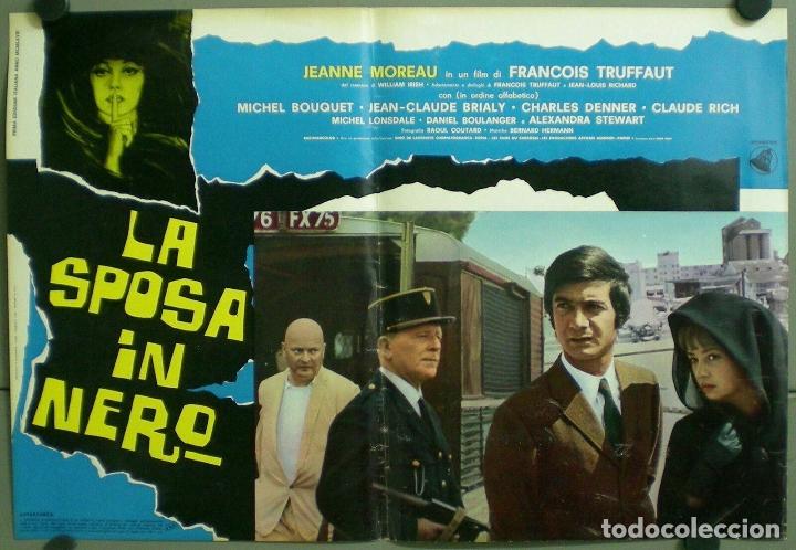 Cine: TV85D LA NOVIA VESTIA DE NEGRO TRUFFAUT JEANNE MOREAU SET 10 POSTER ORIGINAL ITALIANO 47X68 - Foto 4 - 182387901