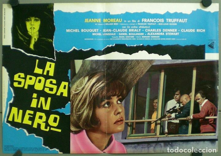 Cine: TV85D LA NOVIA VESTIA DE NEGRO TRUFFAUT JEANNE MOREAU SET 10 POSTER ORIGINAL ITALIANO 47X68 - Foto 5 - 182387901