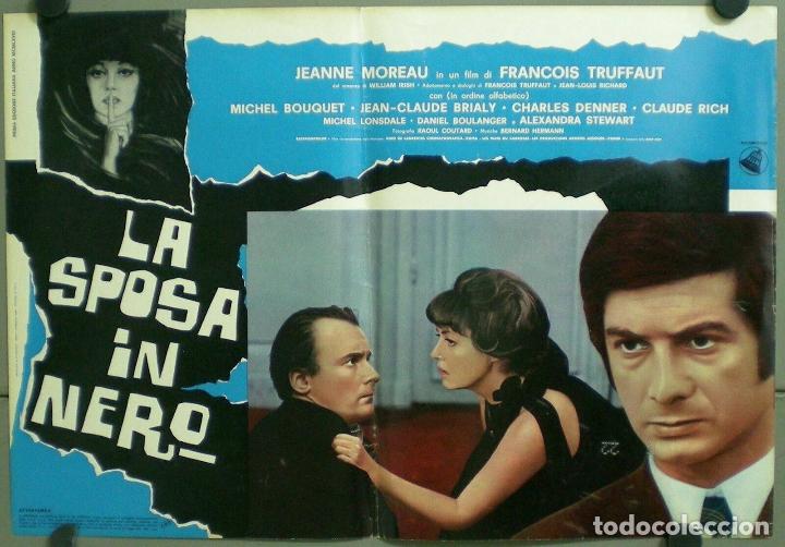 Cine: TV85D LA NOVIA VESTIA DE NEGRO TRUFFAUT JEANNE MOREAU SET 10 POSTER ORIGINAL ITALIANO 47X68 - Foto 6 - 182387901