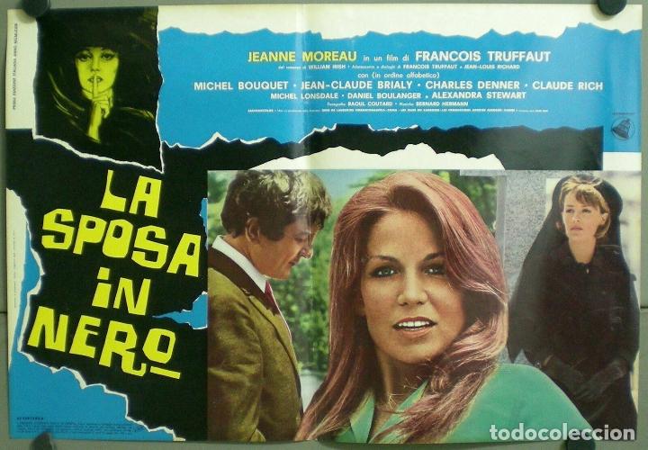 Cine: TV85D LA NOVIA VESTIA DE NEGRO TRUFFAUT JEANNE MOREAU SET 10 POSTER ORIGINAL ITALIANO 47X68 - Foto 8 - 182387901
