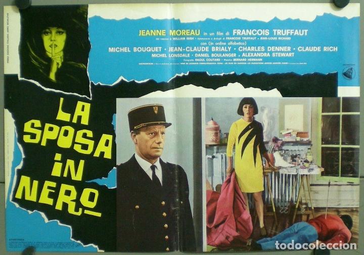 Cine: TV85D LA NOVIA VESTIA DE NEGRO TRUFFAUT JEANNE MOREAU SET 10 POSTER ORIGINAL ITALIANO 47X68 - Foto 9 - 182387901