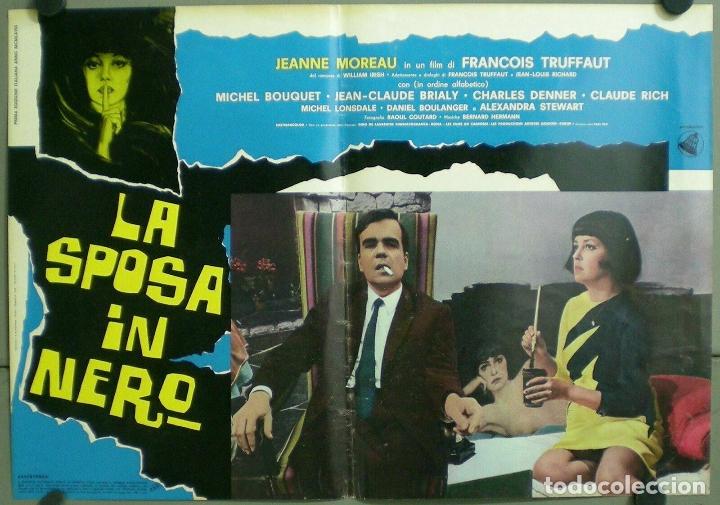 Cine: TV85D LA NOVIA VESTIA DE NEGRO TRUFFAUT JEANNE MOREAU SET 10 POSTER ORIGINAL ITALIANO 47X68 - Foto 10 - 182387901