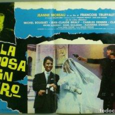 Cine: TV85D LA NOVIA VESTIA DE NEGRO TRUFFAUT JEANNE MOREAU SET 10 POSTER ORIGINAL ITALIANO 47X68. Lote 182387901