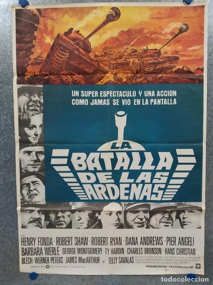 LA BATALLA DE LAS ÁRDENAS. HENRY FONDA, ROBERT RYAN, ROBERT SHAW AÑO 1977. POSTER ORIGINAL. (Cine - Posters y Carteles - Bélicas)