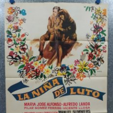 Cine: LA NIÑA DE LUTO. MARÍA JOSÉ ALFONSO, ALFREDO LANDA. AÑO 1964. POSTER ORIGINAL.. Lote 182405202