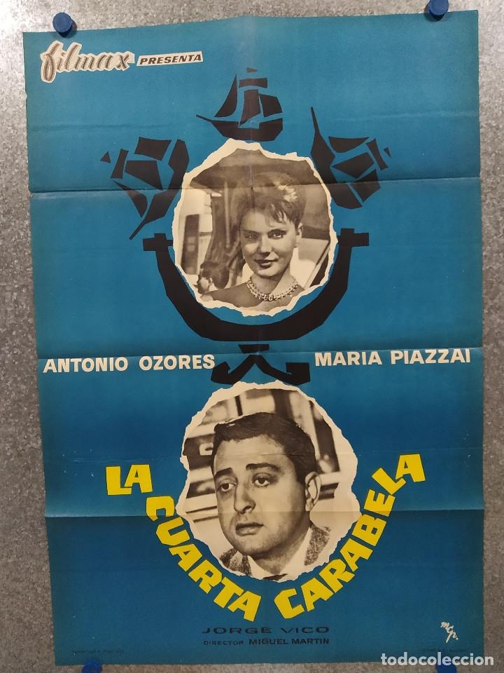 LA CUARTA CARABELA. ANTONIO OZORES, MARIA PIAZZAI AÑO 1963. POSTER ORIGINAL. (Cine - Posters y Carteles - Clasico Español)