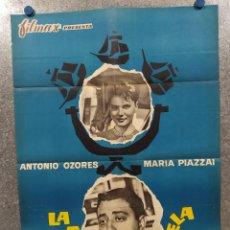 Cine: LA CUARTA CARABELA. ANTONIO OZORES, MARIA PIAZZAI AÑO 1963. POSTER ORIGINAL.. Lote 182405661