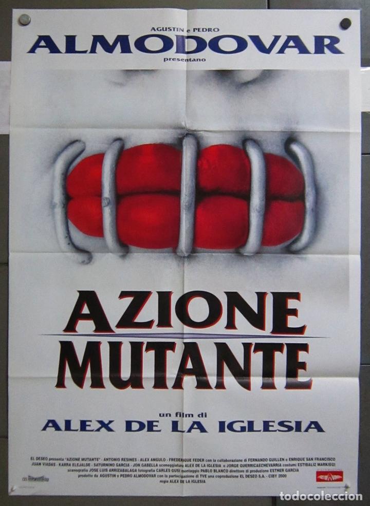 ZY45 ACCION MUTANTE ALEX DE LA IGLESIA SANTIAGO SEGURA POSTER ORIGINAL ITALIANO 100X140 (Cine - Posters y Carteles - Ciencia Ficción)