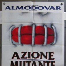 Cinema: ZY45 ACCION MUTANTE ALEX DE LA IGLESIA SANTIAGO SEGURA POSTER ORIGINAL ITALIANO 100X140. Lote 182406262