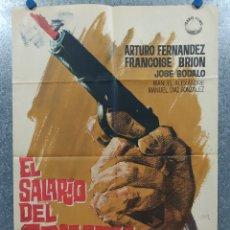 Cine: EL SALARIO DEL CRIMEN. ARTURO FERNÁNDEZ, FRANÇOISE BRION. AÑO 1964. POSTER ORIGINAL.. Lote 182407287