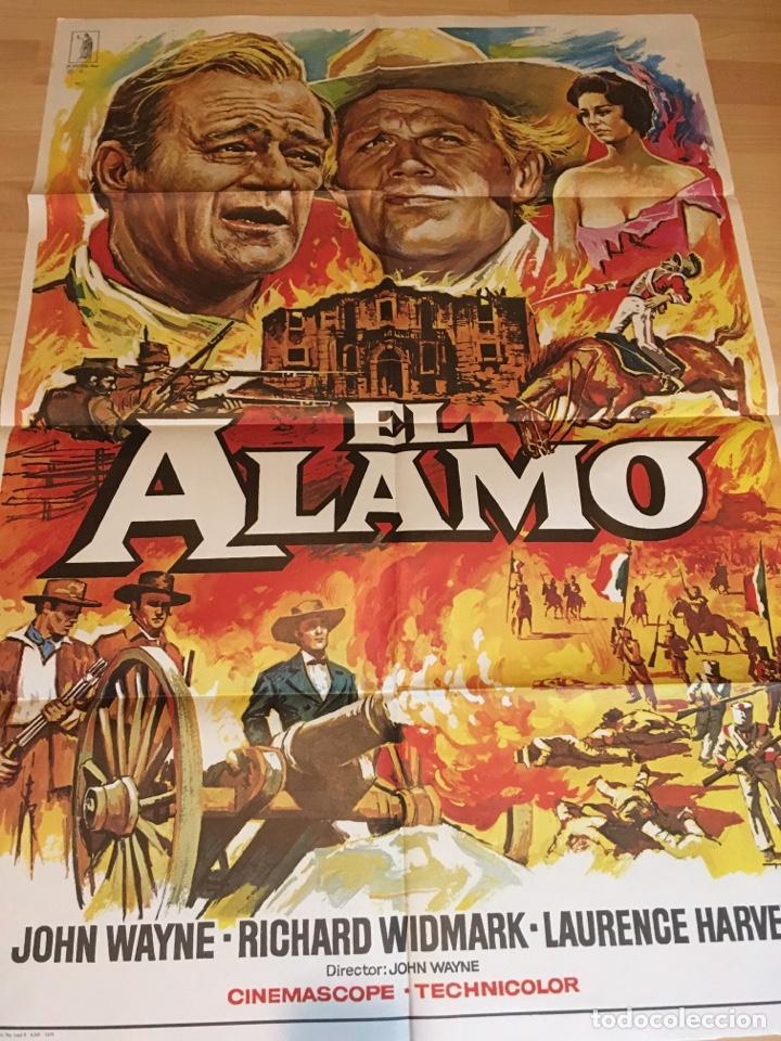 POSTER 100X70 EL ALAMO DE JOHN WAYNE (Cine - Posters y Carteles - Bélicas)