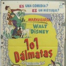 Cine: ON99D 101 DALMATAS WALT DISNEY ANIMACION POSTER ORIGINAL 70X100 ESTRENO. Lote 182481096
