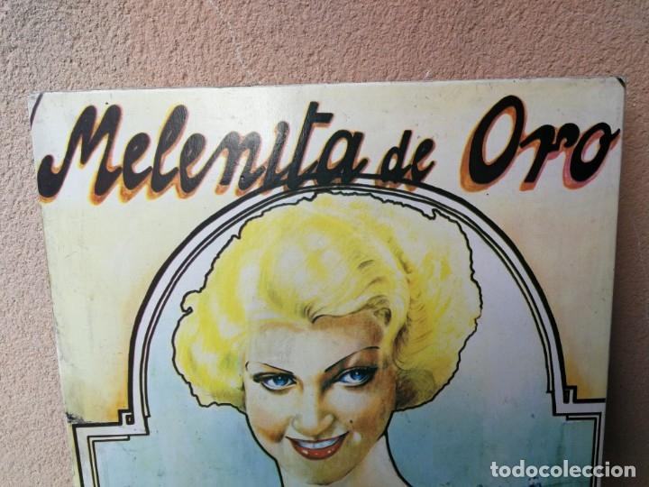 Cine: ANTIGUO CARTEL PELÍCULA MELÉNITA DE ORO CINE ARGENTINO AÑOS 20 PEGADO EN MADERA - Foto 3 - 182501908