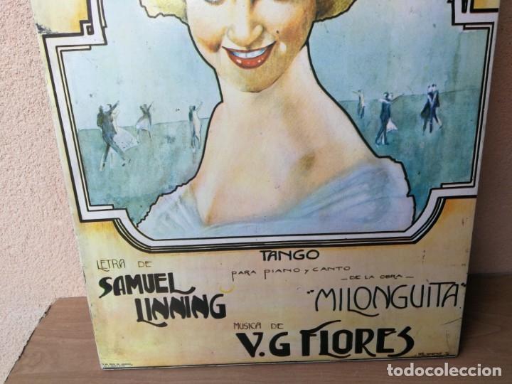 Cine: ANTIGUO CARTEL PELÍCULA MELÉNITA DE ORO CINE ARGENTINO AÑOS 20 PEGADO EN MADERA - Foto 7 - 182501908