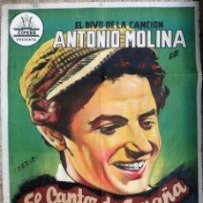 Cine: CARTEL CINE ANTONIO MOLINA EL CANTOR DE ESPAÑA CIFESA PERIS ARAGO LITOGRAFIA ORIGINAL,CC1. Lote 182507023