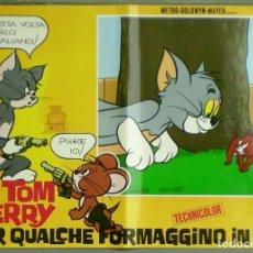 Cine: 2UR71D TOM AND JERRY QUALCHE FORMAGGINO CARTOON FESTIVAL MGM SET 10 POSTER ORIGINAL ITALIANO 47X68. Lote 182511478