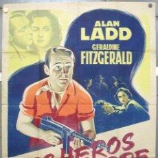 Cine: OU67D O.S.S. ALAN LADD GERALDINE FITZGERALD GRINSSON POSTER ORIGINAL FRANCES 120X160 LITOGRAFIA. Lote 182516036