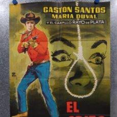 Cine: EL GRITO DE LA MUERTE. GASTÓN SANTOS, MARÍA DUVAL, PEDRO DE AGUILLÓN AÑO 1961. POSTER ORIGINAL. Lote 182516592