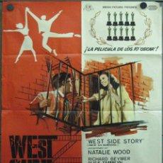 Cine: VX17D WEST SIDE STORY NATALIE WOOD GEORGE CHAKIRIS POSTER ORIGINAL 70X100 ESTRENO. Lote 182519578