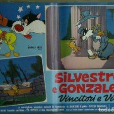Cine: 2VD18D SPEEDY GONZALES SYLVESTER LOONEY TUNES FESTIVAL SET 10 POSTER ORIGINAL ITALIANO 47X68. Lote 182527422