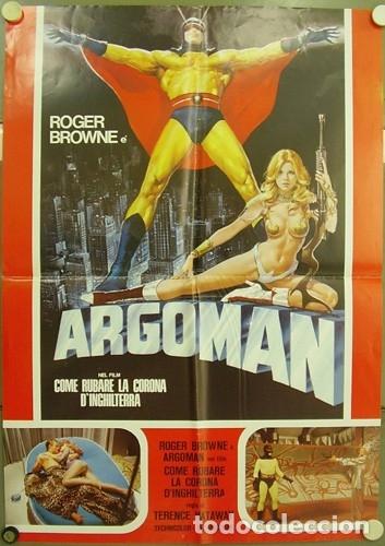 CK70D ASALTO A LA CORONA DE INGLATERRA ARGOMAN ROGER BROWNE POSTER ORIGINAL ITALIANO 68X94 (Cine - Posters y Carteles - Suspense)