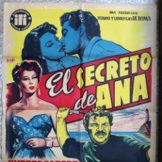 Cine: CARTEL CINE EL SECRETO DE ANA LITOGRAFIA VICIANO ORIGINAL, CC1. Lote 182770820
