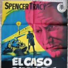 Cine: CARTEL CINE EL CASO O'HARA SPENCER TRACY LITOGRAFIA MONTALBAN ORIGINAL, CC1. Lote 182771372