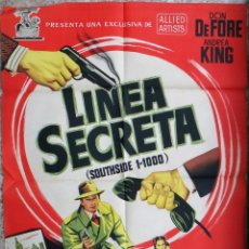 Cine: CARTEL CINE LINEA SECRETA DON DE FORE LITOGRAFIA JANO ORIGINAL, CC1. Lote 182775302