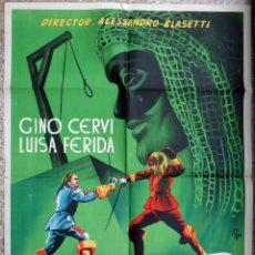Cine: CARTEL CINE EL CABALLERO DEL ANTIFAZ LITOGRAFIA LLOAN ORIGINAL, CC1. Lote 182775607