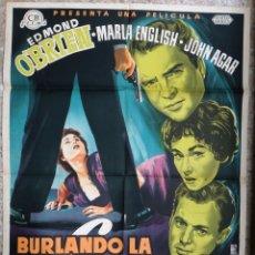 Cine: CARTEL CINE BURLANDO LA LEY EDMOND O'BRIEN LITOGRAFIA ALE ORIGINAL, CC1. Lote 182777338