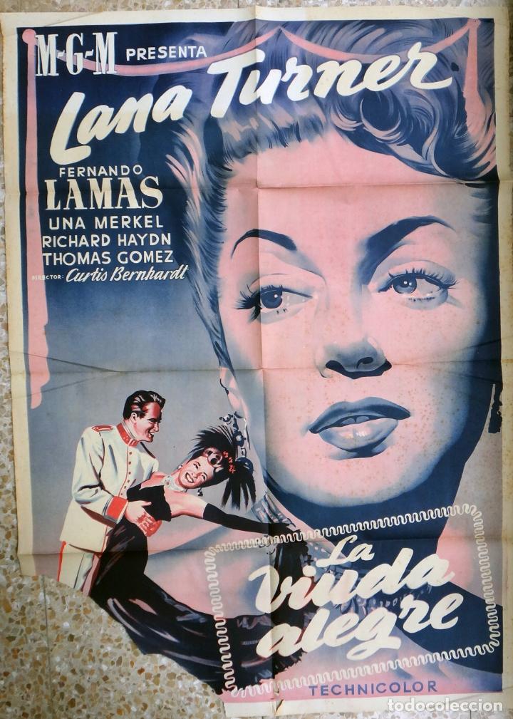 CARTEL CINE LA VIUDA ALEGRE LANA TURNER LITOGRAFIA ORIGINAL, CC1 (Cine - Posters y Carteles - Musicales)