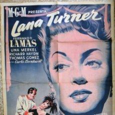 Cine: CARTEL CINE LA VIUDA ALEGRE LANA TURNER LITOGRAFIA ORIGINAL, CC1. Lote 182778977