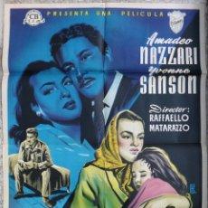 Cine: CARTEL CINE TORMENTO AMADEO NAZZARI LITOGRAFIA ALE ORIGINAL, CC1. Lote 182786520