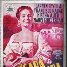 Cine: CARTEL CINE LA PICARA MOLINERA CARMEN SEVILLA PACO RABAL LITOGRAFIA PERIS ARAGO ORIGINAL, CC1. Lote 182788300