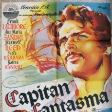 Cine: CARTEL CINE CAPITAN FANTASMA FRANK LATIMORE LITOGRAFIA RAMON O RAGA ORIGINAL, CC1. Lote 182868280